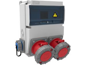 Stromverteiler 2+62A  2x230 Wandverteiler Baustromverteiler CEE IP67 Schuko