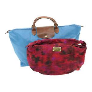 MARC JACOBS LONGCHANP Nylon Hand Shoulder Bag Red Blue Auth pg1232