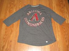 New Mens Genuine Merchandise Mlb Arizona Diamond Backs 1/2 Sleeve Tee Shirt Xl