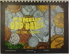 1972 Coins Calendar Famous Odd Balls Krause Publications