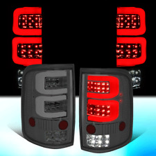 FOR 2004-2008 FORD F150/LOBO PAIR SMOKED HOUSING DUAL 3D LED BAR TAIL LIGHT/LAMP