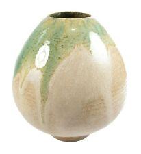 Vintage Porcelaneous Studio Pottery Vase - Modern Design - Signed - Circa 1980's