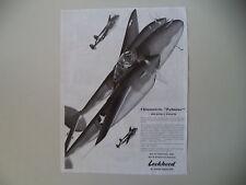 advertising Pubblicità 1944 AEREO DA CACCIA LOCKHEED II GUERRA MONDIALE WAR