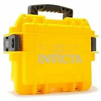 Invicta Dive Watch Waterproof Plastic Box Case 3 Slots Yellow