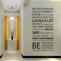Removable Vinyl Decal Art Mural Home Family Living Room Deco Quote Wall Sticker-