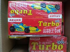 Russian Chewing Gum TURBO with Stickers Taste from USSR Childhood Big Box 100pcs