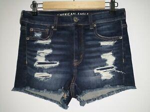 American Eagle jean shorts size 4 HI-RISE SHORTIE NE(X)T LEVEL STRETCH New