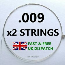 2 x Single Electric Guitar Top E String Gauge 009 1st E String
