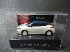 NISSAN LEAF Mini Car Pearl White Dark Blue JAPAN Not sold in stores