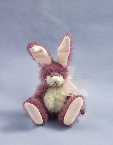 """DEB CANHAM  """"ONEFUR BUNNY""""  MOHAIR MINI--LIM EDITION OF 22  FOR 2008 CONVENTION"""