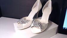 WONDER by JENNY PACKHAM  Peep Toe  ivory BRIDAL WEDDING SIZE 12 NIB