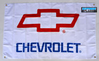 Chevrolet Flag Banner 3x5 ft Chevy American Wall Car Garage  New White