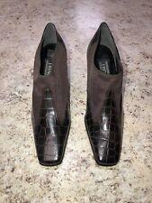 J Renee 2.5 In Block Heels,  Brown Faux Alligator Design NWOT, Women's 6.5