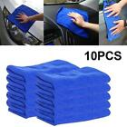 10Pcs Microfiber Cleaning Auto Car Detailing Wash Towel Duster Blue Soft Cloth