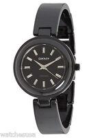 DKNY Ladies Black Dial Black Braclet Ceramic Watch NY8549