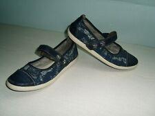 schöne Ballerinas Schuhe Gr.38 blau Leder Klett