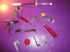 (1897)  A nice variety of VINTAGE metal sewing machine parts and more