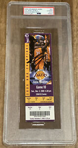 Shaquille O'Neal Signed Lakers Kobe Bryant 2000 TICKET STUB PSA/DNA AUTHENTIC 10