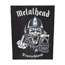METALHEAD Backpatch DEUTSCHLAND Rückenaufnäher Motörhead Parodie Rock And Roll