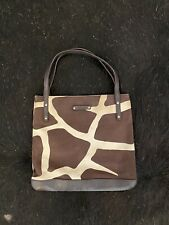 KATE SPADE giraffe Canvas Purse Bag Handbag Pocketbook leather