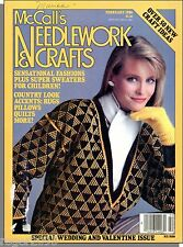 McCall's Needlework & Crafts - 1986, February - Sweaters, Wedding & Valentine