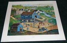 BOB PETTES THE NEW COLT 1982 SIGNED LIMITED EDITION POSTER PRINT FARMING HORSES