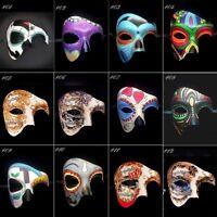 Dia de los Muertos Sugar Skull Phantom Masquerade Mask, Day of the Dead Mask