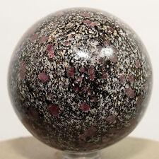 "2.3"" Natural RUBY SPINEL in Biotite Matrix Gemstone Crystal Mineral Sphere India"