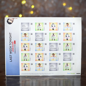 Last Week Tonight with John Oliver USPS Stamps, Sheet of 20 - PhotoStamps (New)