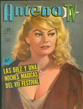 ANTENA TV  # 1768  ARGENTINA  MAGAZINE ANITA EKBERG ON COVER 1965