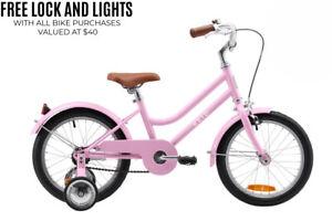 Reid 16 inch Girls Kids Vintage Push Bike Retro Classic Training Wheels Colours