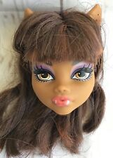 MONSTER HIGH ~ Clawdeen Wolf Coffin Bean Doll Head Only Replacement for OOAK  #2
