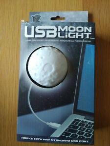 Moon Light Night LED Lamp USB Laptop / Area Illumination - New
