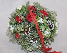 Midwest of Cannon Falls Pine Cones Apples Christmas Hanging Wreath Ball