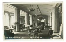 HARMON #453. THE LOUNGE. BANFF SPRINGS HOTEL. RPPC POSTCARD. CANADA