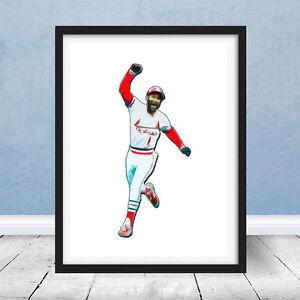 Go Crazy Folks Ozzie Smith St Louis Cardinals Home run Baseball Art Wizard Gift