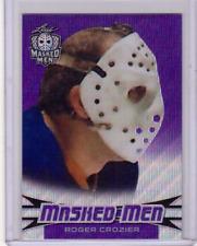 ROGER CROZIER 17/18 Leaf Masked Men Insert Card #15 Prismatic PURPLE Wave #d 1/9