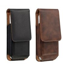 Vertical Leather Premium Holster + Belt Clip Carrying Case for iPhone X 7 8 Plus