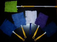 DUSTER 1 FLEECE REUSABLE WASHABLE SWIFFER-STYLE REFILLS DOUBLE-SIDED 1 DUSTER