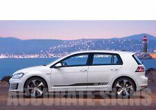 VW GOLF GTD mk5 mk6 mk7 SET GRAFICHE ADESIVI Strisce Auto Decalcomanie Qualsiasi Colore