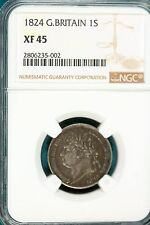 New listing Ngc England 1824 Silver 1 Shilling Ngc certified Xf 45 #B8060