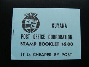 RARE - BOOKLET 1981 Guyana AIR FISH $1 & 50 Stamp Set 2 blocks of 4