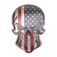 3D Metall Skull TOTENKOPF Sticker Logo Emblem Badge Auto Aufkleber AMERIKA USA