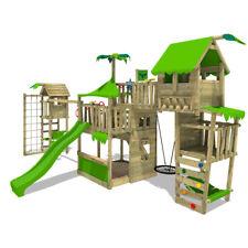 FATMOOSE TropicTemple Tall XXL Cabane jardin Aire de jeux TowerSwing Balançoire