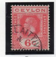Ceylon 1912-25 Early Issue Fine Used 6c.