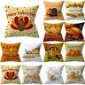 Pillow Cover Sofa Pumpkin Thanksgiving Decorative Cushion Throw Pillowcase