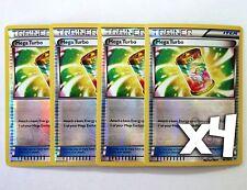 Pokemon, Roaring Skies, Mega Turbo 86/108, New, Mint, Reverse Holo x4