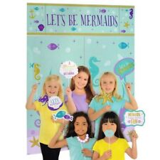 MERMAID WISHES SCENE SETTER w/ PROPS (17pc) ~ Birthday Party Supplies Decoration