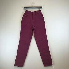 Vintage Wrangler Jeans - Relaxed Tapered Burgundy - Tag Size: 7/8 (23x34) #7497