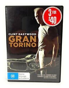 Gran Torino (DVD, 2008) Clint Eastwood Region 4 Free Postage
